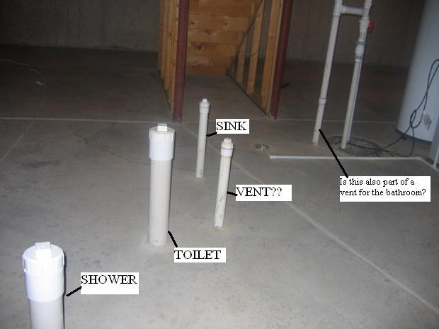 Basement Bathroom Rough-In - Plumbing - Diy Home Improvement