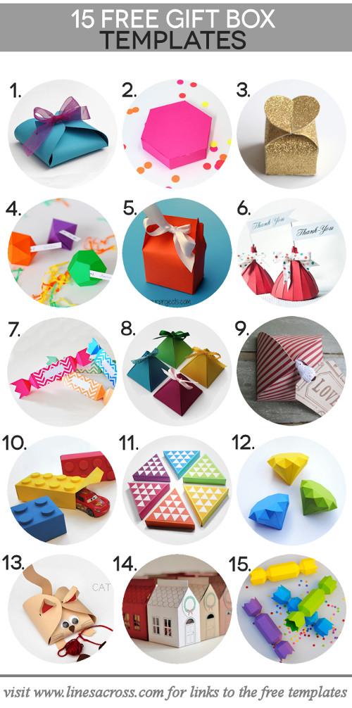 15 Paper Gift Box Templates \u2013 DIY Craft Room - gift box template free