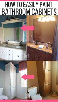 Painting Bathroom Cabinets White | www ...