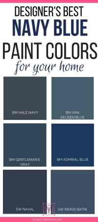Best Navy Paint Colors: Designers Share 6 Failproof Paint ...