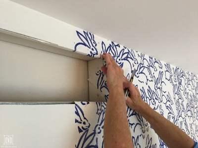 How to Hang Wallpaper - DIY Decor Mom