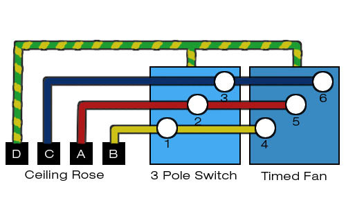 wiring diagram for a timed extractor fan