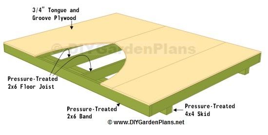 Floor Cut List Saltbox Shed Plans Page 4
