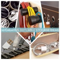 10 DIY Cord & Cable Organizers