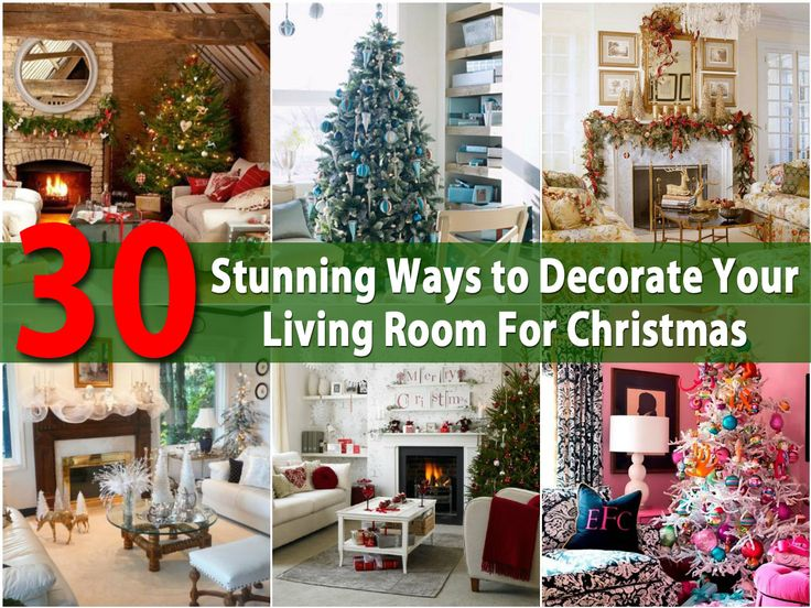 Stunning Ways To Decorate Your Living Room For Christmas