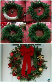 DIY Christmas Wreath Craft Ideas Holiday Decoration ...