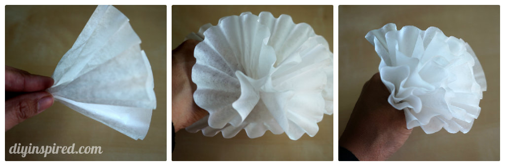 Easy Coffee Filter Paper Flowers - Diy Inspired
