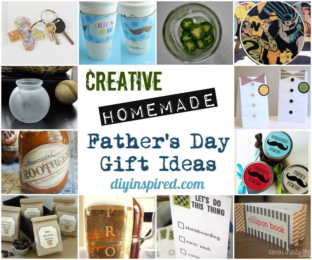 Creative Homemade Fathers Day Gift Ideas Diy Inspired