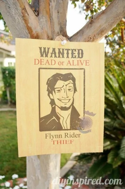 Flynn Rider Wanted Poster Printable - DIY Inspired