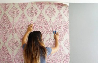 How to Hang Wallpaper with a Pattern - DIY Inspired