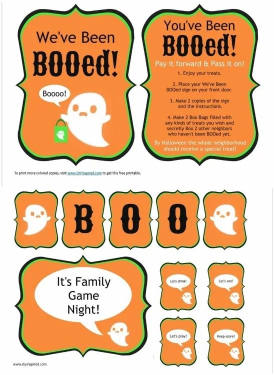 You\u0027ve Been BOOed Idea with Printables - DIY Inspired
