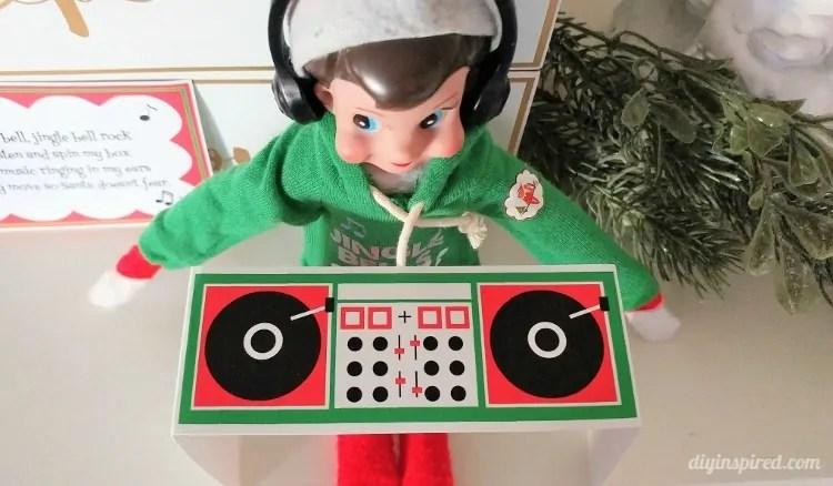 Printable Elf DJ Booth - DIY Inspired