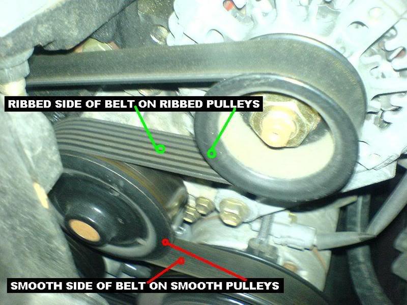 Replacing the 1ZZ-FE serpentine belt Toyota Corolla DIY