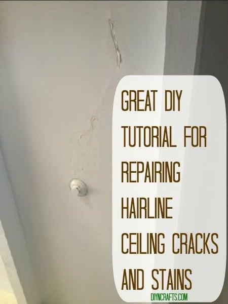 Great DIY Tutorial for Repairing Hairline Ceiling Cracks