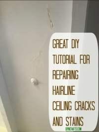 Great DIY Tutorial for Repairing Hairline Ceiling Cracks ...