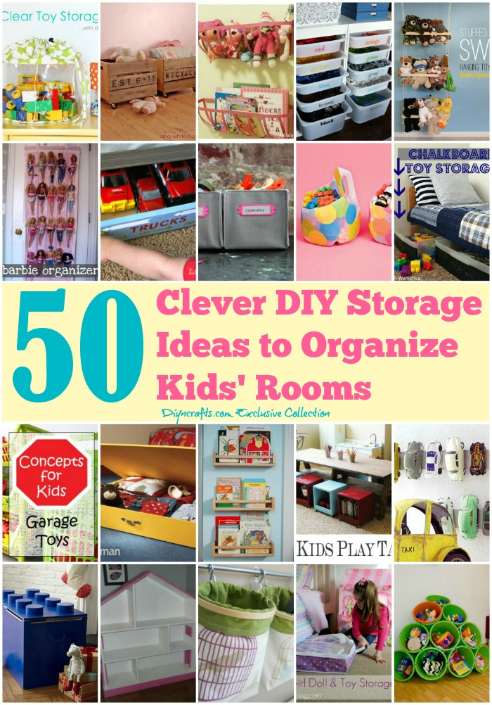 50 Clever DIY Storage Ideas to Organize Kids\u0027 Rooms - DIY  Crafts