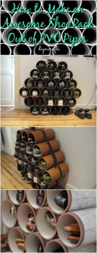 pvc pipe shoe storage diy - 28 images - diy shoe organizer ...