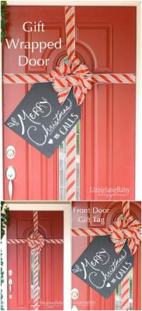 20 DIY Christmas Door Decorations To Make Your Home ...