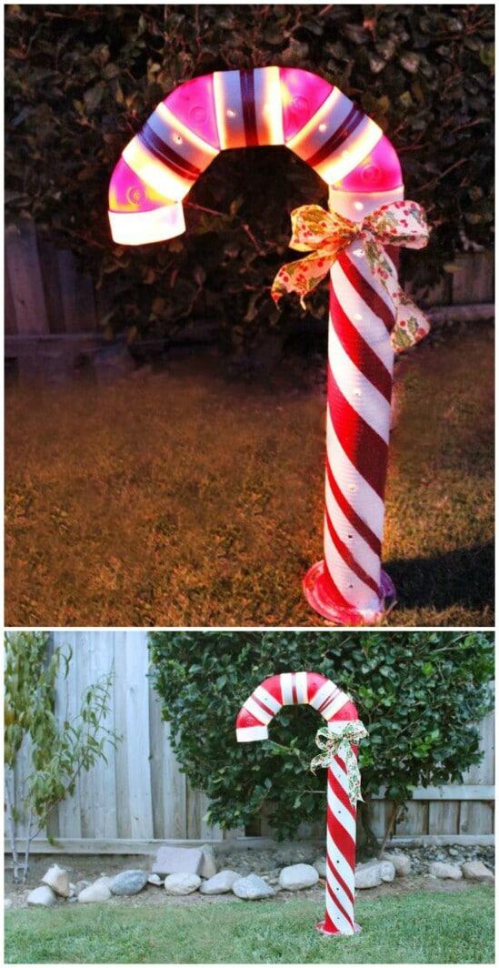 20 Impossibly Creative DIY Outdoor Christmas Decorations - DIY - lighted outdoor christmas decorations