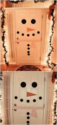 Snowman Door & Mason Jar Snowman Door Hanger Snowman Door ...