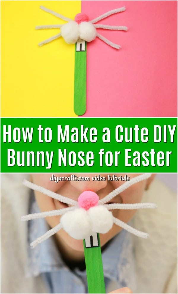 How to Make a Cute DIY Bunny Nose for Easter - DIY  Crafts