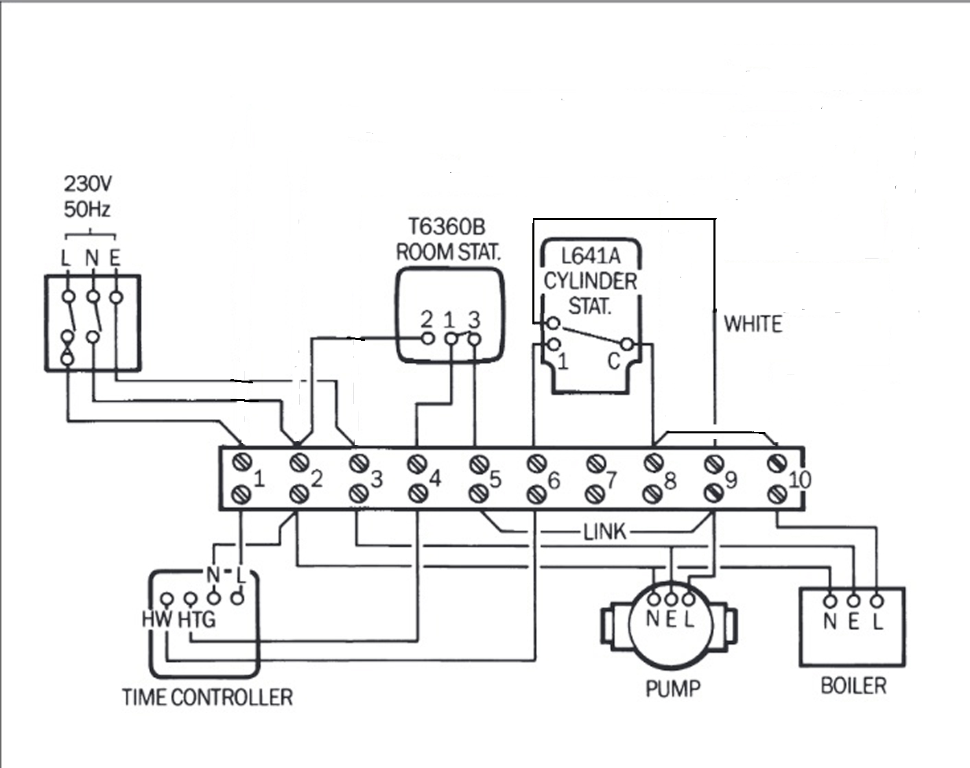 danfoss heating controls wiring diagram