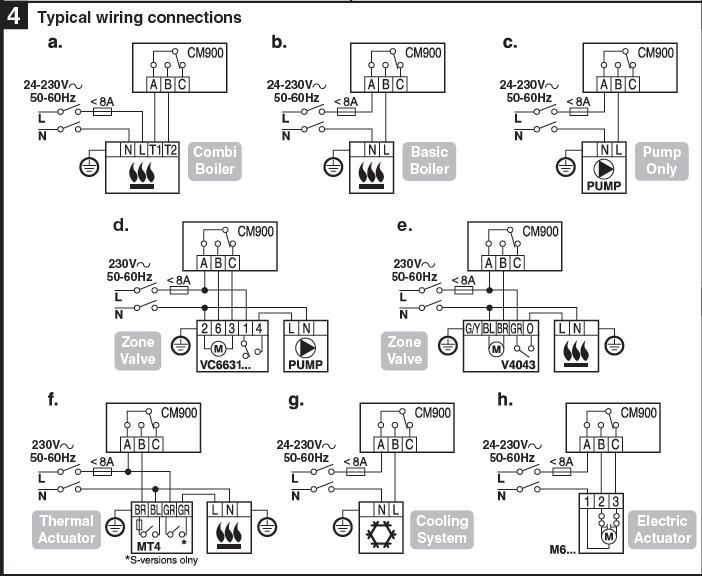 honeywell thermostat wiring diagram th 52200