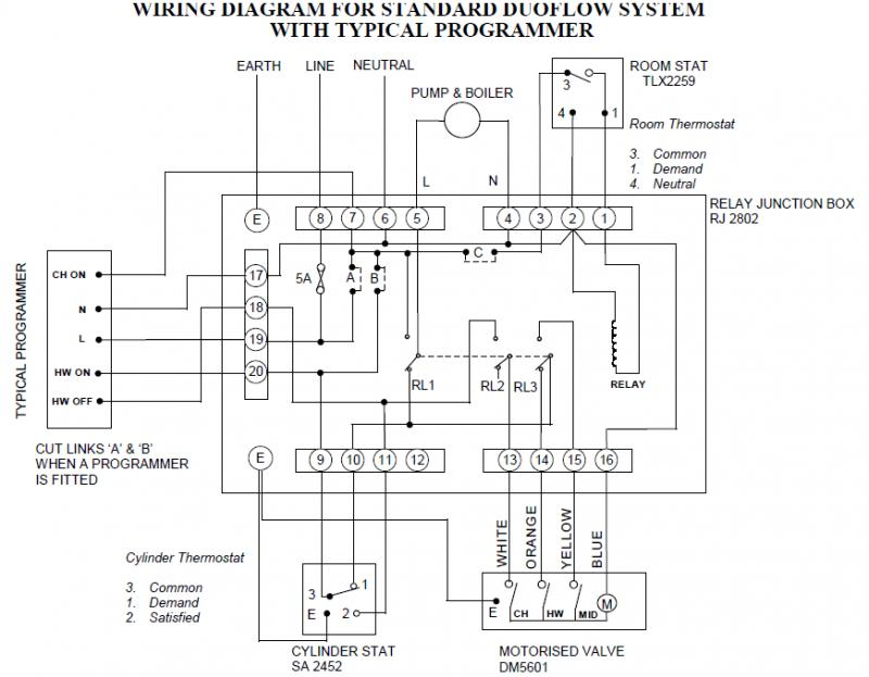 wiring diagram for boiler programmer