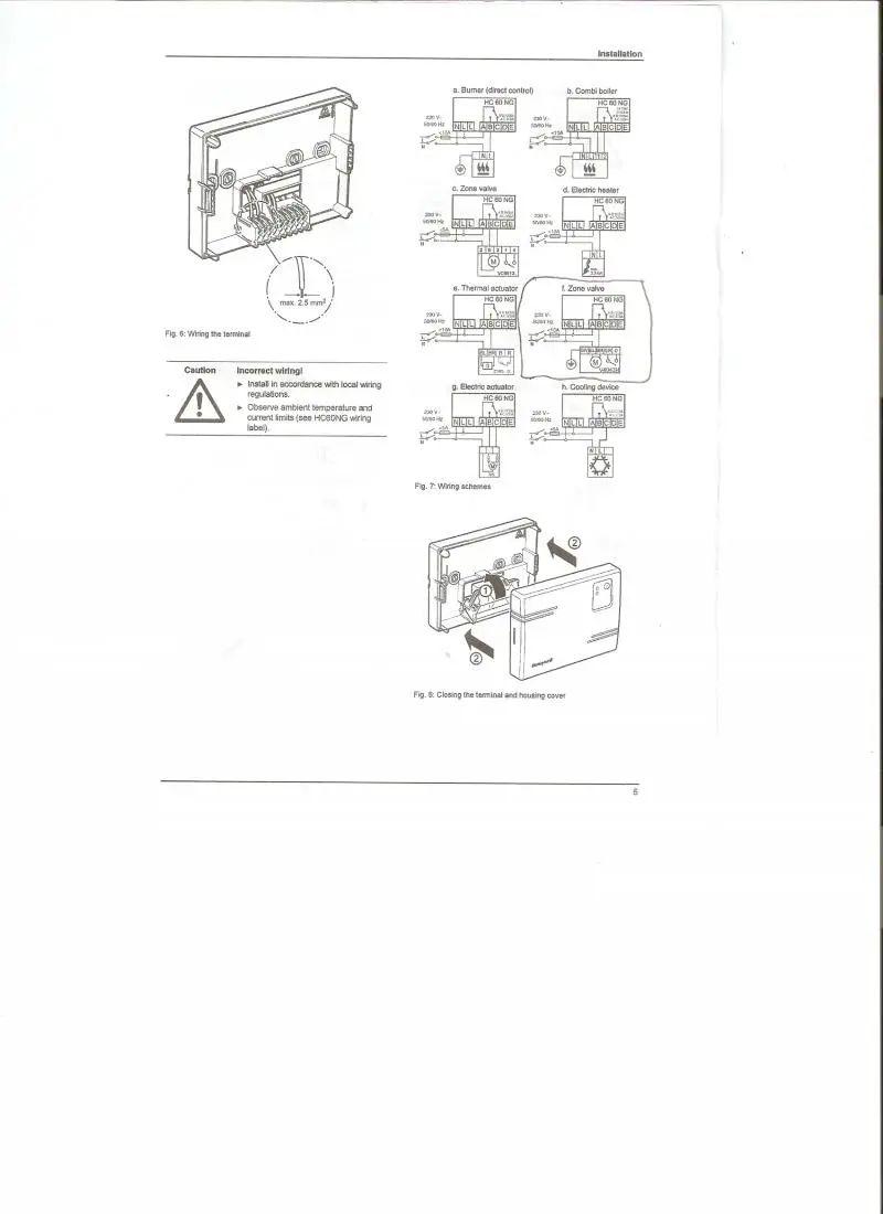 honeywell wireless thermostat y6630d wiring diagram