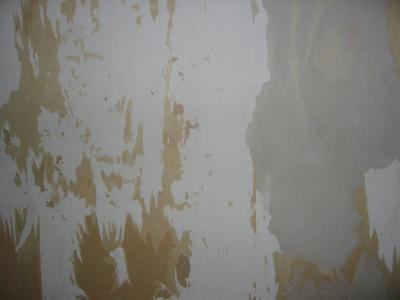 Plasterboard walls in a right state after removing wallpaper | DIYnot Forums