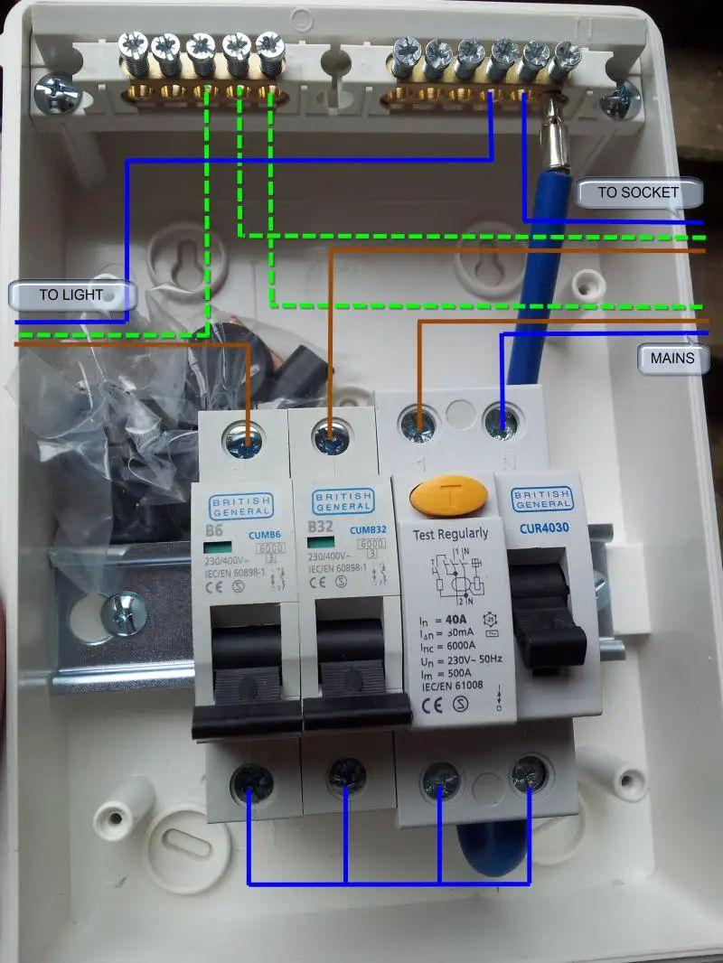 garage rcd wiring diagram