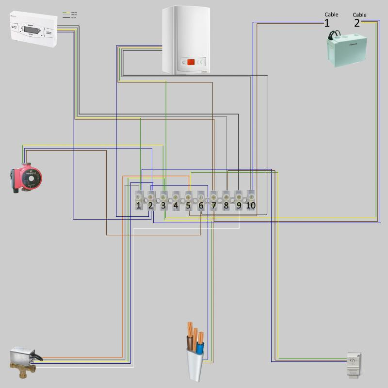 wiring diagram for wireless room thermostat