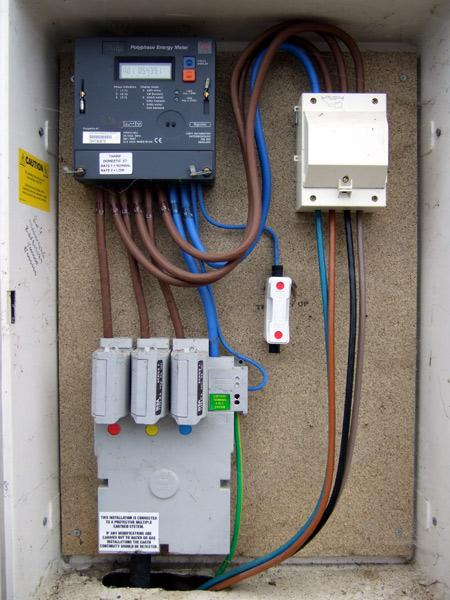 100 Amp Garage Service Wiring Diagram Controlling Storage Heaters On Domestic 3 Phase Supply