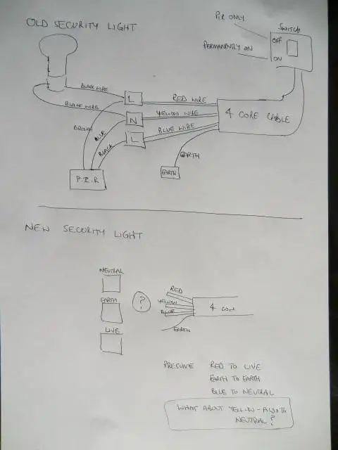 wiring diagram for outside light