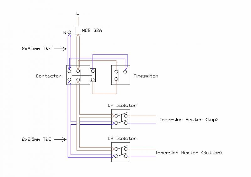 wiring diagram for hot water heater