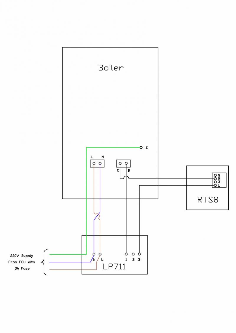 wiring diagram for room stat