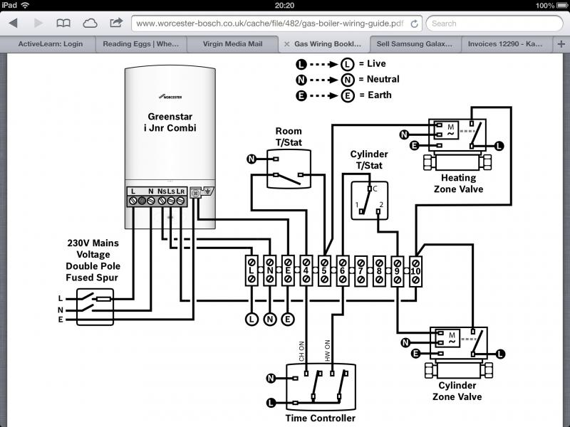 wiring diagram for boiler control