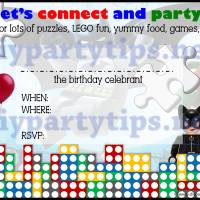 FREE PRINTABLE: Lego Party Invitation