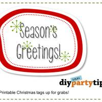 FREE PRINTABLE: Christmas Tags