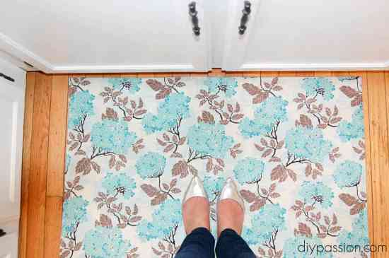 Make your own Fabric Kitchen Mat