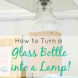 Glass Bottle Turned Lamp
