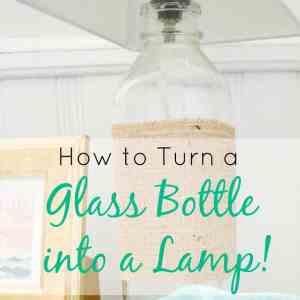 Glass Bottle Turned Lamp