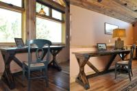 Learn how to build a desk with x supports and I beams for ...