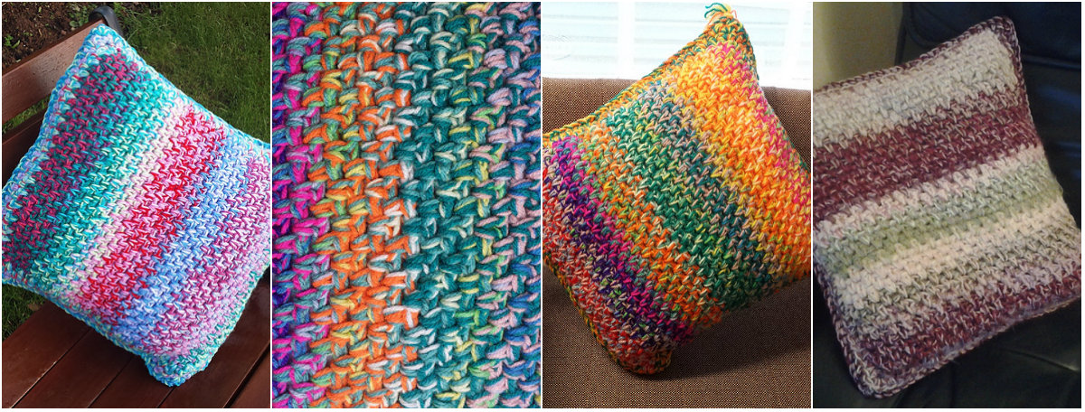 Crochet Linen Stitch : Crochet Linen Stitch Cushion - free pattern Diy Smartly