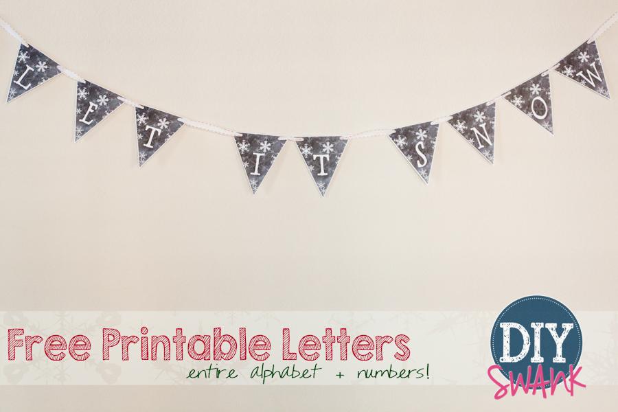 Free Printable Chalkboard Letters + Numbers DIY SWANK
