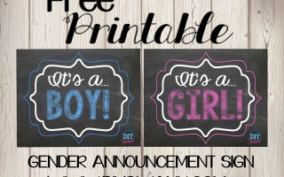 Gender Reveal Chalkboard Sign
