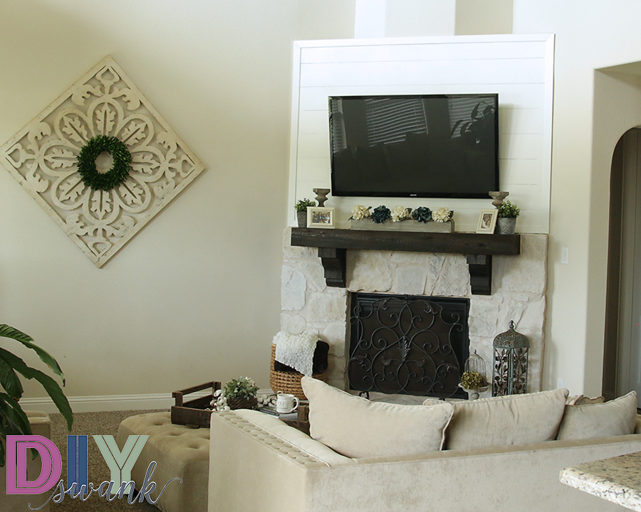Diy Faux Shiplap Fireplace Tutorial Giveaway Diy Swank