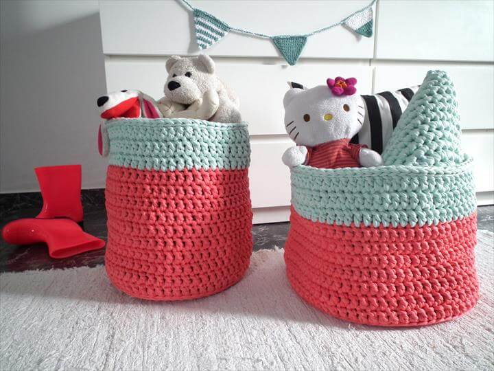 46 Free Amazing Crochet Baskets For Storage Diy To Make