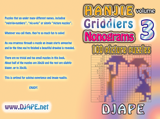 Hanjie book hanjie griddlers nonograms book 3 512