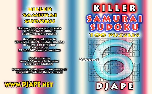 Killer Samurai Sudoku book killer samurai sudoku book 6